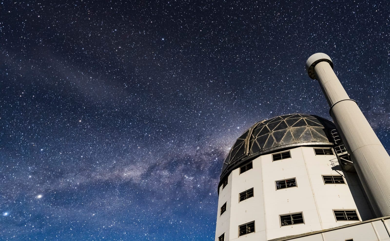 The nighttime starry sky above the Southern African Large Telescope