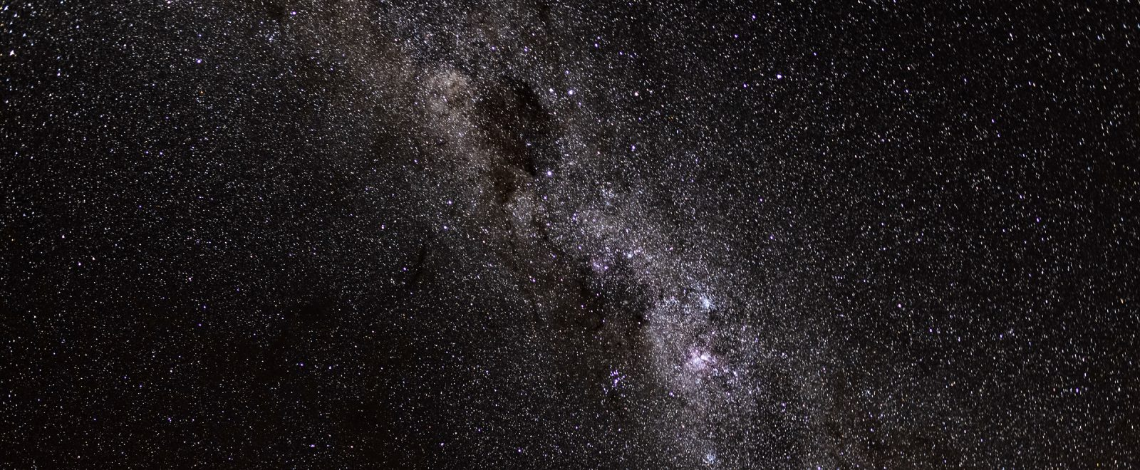 Nighttime sky with Milky Way stars visible